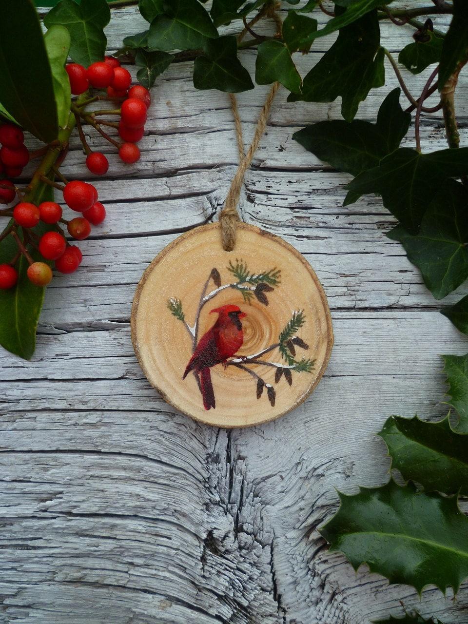 original illustration hand painted wooden hanging ornament. Black Bedroom Furniture Sets. Home Design Ideas