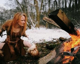 Barbarian Dress, Hyborian Female Outfit, Larp