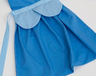 princess Cinderella dress up apron for toddlers and little girls