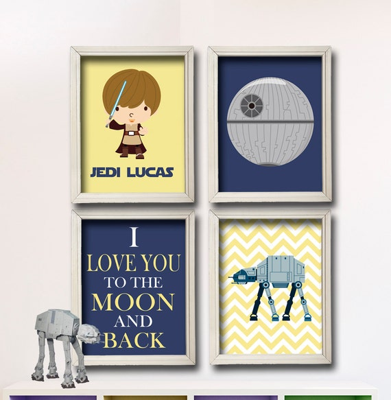 Items Similar To Star Wars Nursery Art I Love You To The