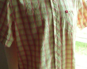 Vintage Quicksilver M 38/39 96/100 short sleeved casual shirt