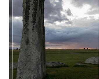Stonehenge Canvas, Stonehenge Sunset, Canvas Wrap, UK Canvas, British Wall Art, Sunset Home Decor, British Sunset, London Countryside
