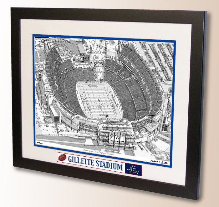 Gillette Stadium Art Home Of The New England Patriots