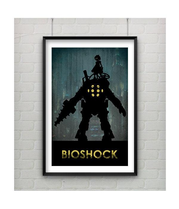 Bioshock Poster Minimalist 11x17 Silhouette Art Bioshock