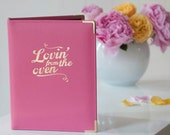 Hot Pink Leather Loving From The Oven Recipe File, Recipe Binder