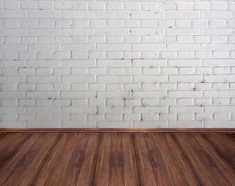 White Painted Brick Photography Backdrop