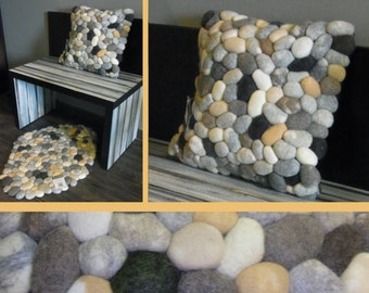 Cushion felt stones / pebbles