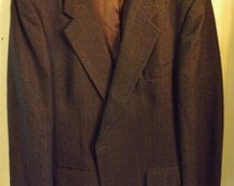 Harve Bernard Double Breasted Wool Suit Size 42R