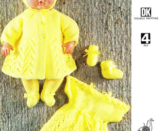 Vintage Emu 6789 Majorette outfit knitting pattern to fit