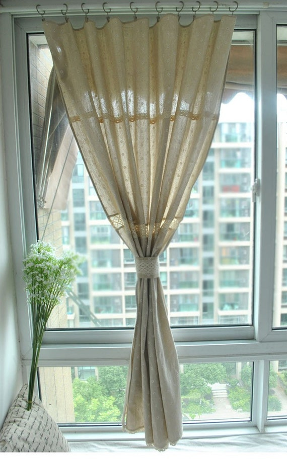 61 colors natural linen cotton window panels drapes curtains with