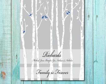 Family Art Print, FAMILY IS FOREVER Personalized Art Print, Housewarming Art Print, Anniversary Gift Art Print 161