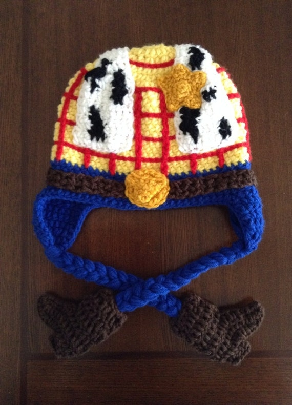 Items similar to Toy story inspired Woody crochet Hat on Etsy