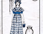 Girl's Dress and Mop Cap Vintage Sewing Pattern. UNCUT. 1960s. Victorian Girl Fancy Dress. Woman's Realm L295. Chest 23 inches.