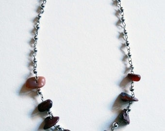 Chakra Brown (Dream) Pebble Necklace