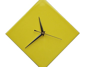 CLC Contemporary Yellow Diamond Wall Clock 20cm