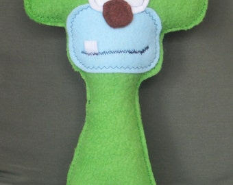 Green LUV YOU Monkey Monster Friend, 10 Inches Tall