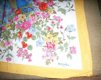 Scarf Richel - excellent condition - Vintage- Silk