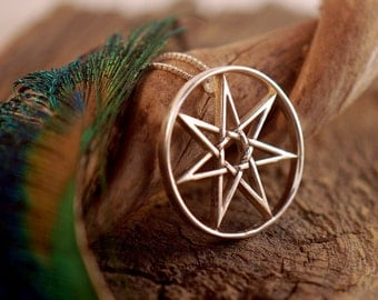 Septegram ~ Faery Star ~ Sterling Silver Pendant