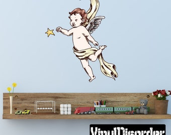 Angel - Vinyl Wall Decal - Wall Fabric - Vinyl Sticker AngelUScolor002