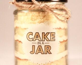 Large Vanilla Dream Cake in a Jar