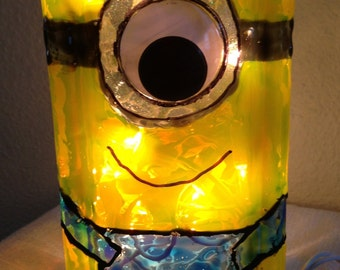 Minion Glass Block