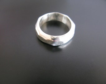 Chunky Silver Ring Rugged Ring
