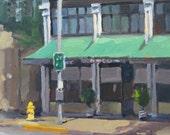 "Sale! Oregon cityscape landscape plein air oil painting ""The Tiffany Building, Eugene"" original art Free Shipping"