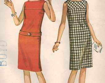 1960s McCall's 7251 UNCUT Vintage Sewing Pattern Pre-Teen Dress Size 10 Bust 29