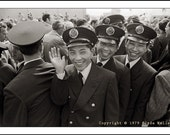 Historic Clyde Keller Photo, LANDED CHINESE SAILORS, Pier 86, Seattle,  large 16x20 inch Fine Art Print, Black and White, Signed, 1979 image