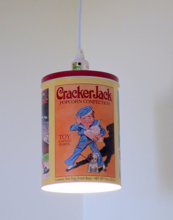 Plug-in pendant light - Cracker Jack tin edition