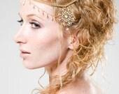 Gold Shakti chain headdress, Egyptian,
