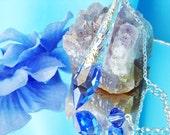 Dowsing Pendulum Swarovski Crystal Metaphysical Magic Wand Sapphire Blue