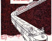 1953 ad California Zephyr train Vista Dome Western Pacific railroad retro travel railroadiana Midcentury Modern to frame -Free U.S. shipping