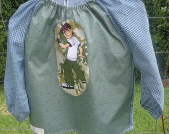 Waterproof art smock for toddler age 2 to 3 years. Ben 10.