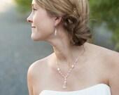 Pearl and Crystal Earrings, Wedding Earrings, Swarovski Bridal Jewelry, Pearl Wedding Jewelry, Dangle Earrings, White or Ivory Pearls