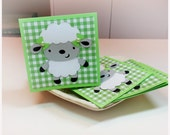 Lovable Lambs-  Mini Cards Thank You cards Childrens cards (Set of 4)