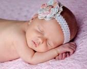 Dainty Daphne... Blossoming Fabric Flower Headband