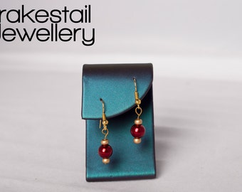 Red Glass Pearl Earrings