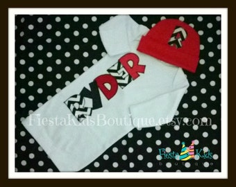 Coming home outfit boy, baby clothes, newborn boy outfit, baby gown monogrammed, baby hats, baby layette, infant outfits
