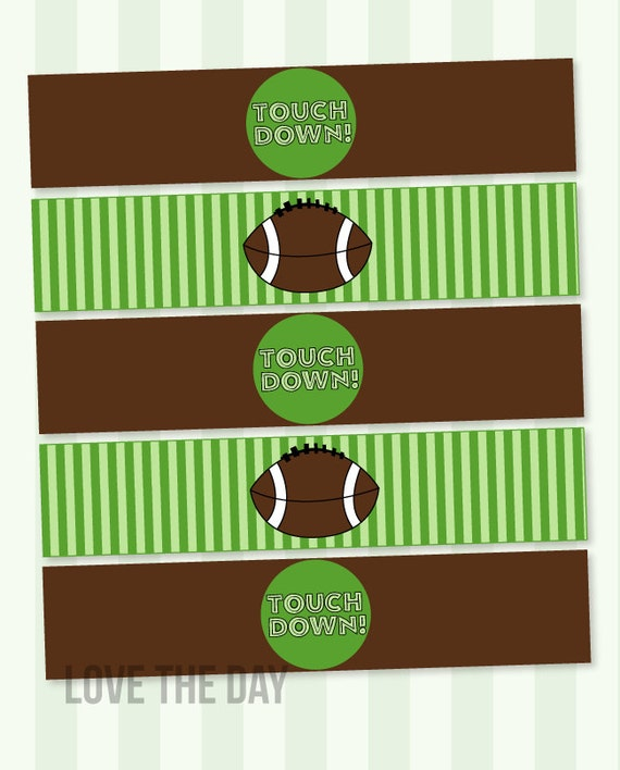Football Party PRINTABLE Drink Labels (INSTANT DOWNLOAD ...