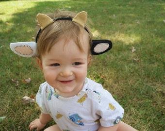 Wool Felt Cow Ears Headband