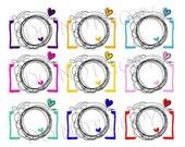 Sale CAMERA clipart set  zip file -Digital Camera Clip Art Digital illustration clipart by princessmi  1017
