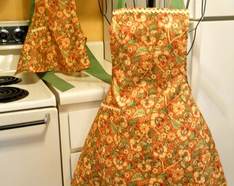 Mother Daughter Matching Vintage Style Fall Thanksgiving Aprons