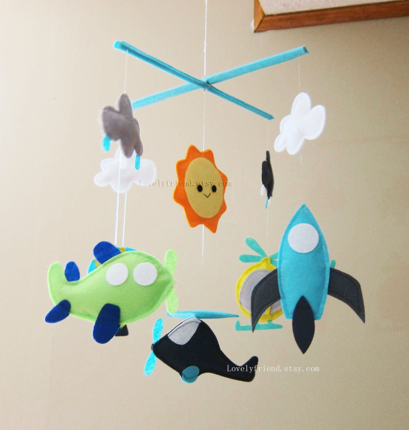 Baby Mobile Airplane Baby Boy Mobile Hot Air Balloon Baby