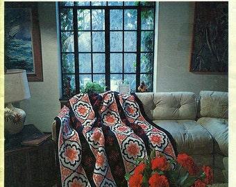 SPINNOVATIONS 1 Vintage 1970s Afghans, Tablecloths, Bedspreads - Crochet & Knit Pattern Book