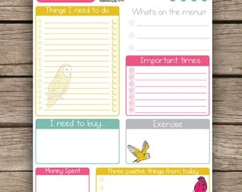 Daily Planner Printable To Do List Pocket by AlexiaClaire