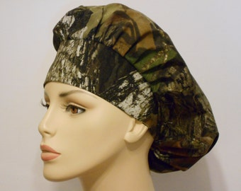 Bouffant Medical Scrub Hat -CAMO  Mosey Oak Forest All Over