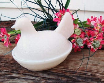 Items Similar To 2 Eclectic Vintage White Milk Glass Footed Bowls Wedding Decor Bathroom