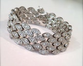 Vintage Pave Estate Jewelry Bracelet