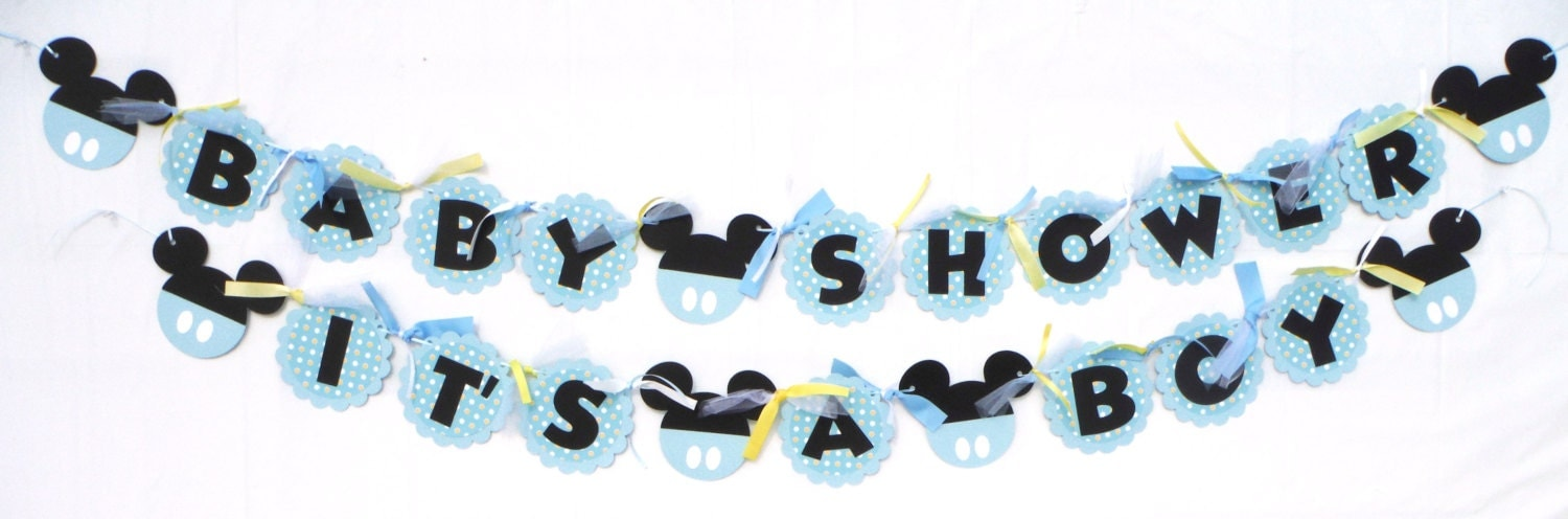 Baby Shower Mickey Mouse Theme Party Banner Baby Shower